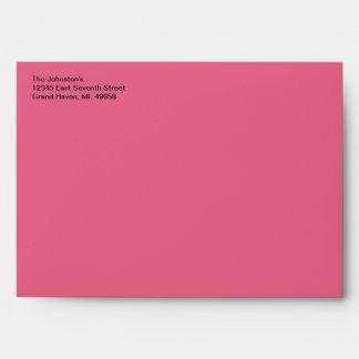 Honeysuckle Pink A7 Envelope