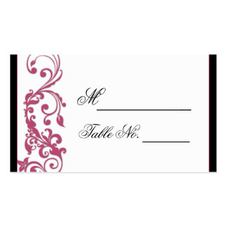 Honeysuckle Pink Rounded Corner Wedding Place Card