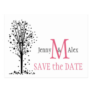Honeysuckle Pink Save the Date Cards