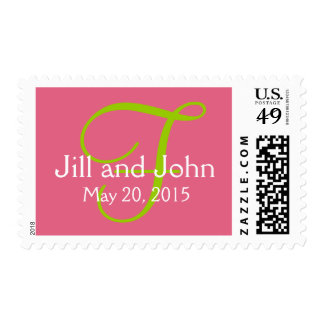 Honeysuckle Pink Save the Date Postage Stamps