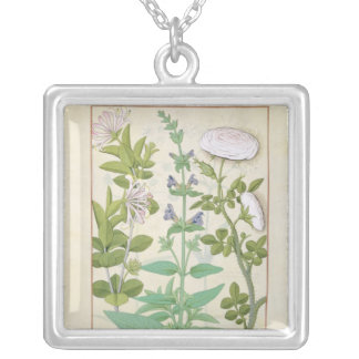 Honeysuckle, Sage and Rose Silver Plated Necklace
