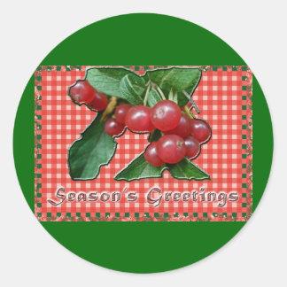 Honeysuckle Season's Greetings Sticker
