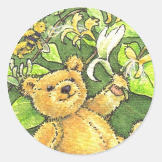 Honeysuckle Teddy Sticker