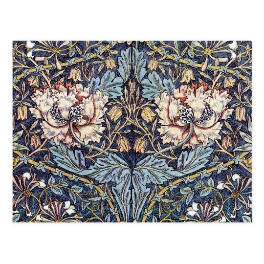 Honeysuckle Textile Design Postcard