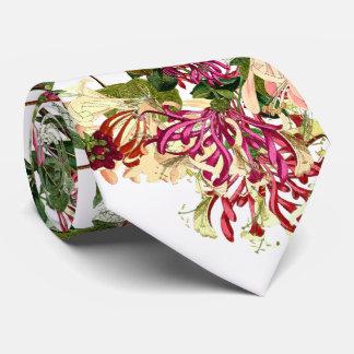 Honeysuckle Vine Botanical Floral Flowers Tie