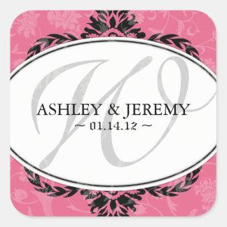Honeysuckle Wedding Favor Stickers