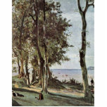 Honfleur. Calvary en el Cote De Grace By Corot Je Escultura Fotografica