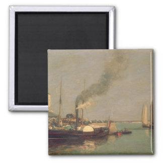 Honfleur. La Jetee, 1854-57 (aceite en el panel) Imán Cuadrado