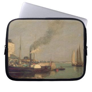 Honfleur. La Jetee, 1854-57 (oil on panel) Laptop Computer Sleeves