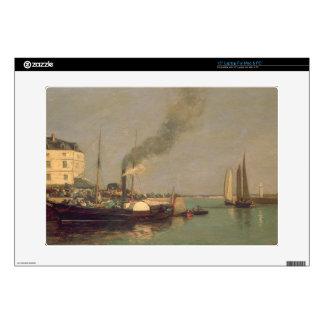 Honfleur. La Jetee, 1854-57 (oil on panel) Laptop Decals