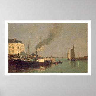 Honfleur. La Jetee, 1854-57 (oil on panel) Poster