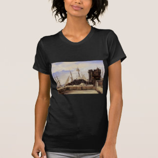 Honfleur, The Old Wharf by Camille Corot T-Shirt