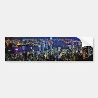 Hong Kong At Night Bumper Sticker