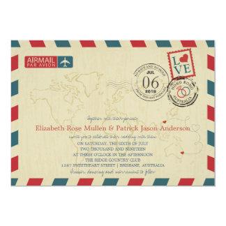 Hong Kong / Australia Antique Airmail | Wedding Card