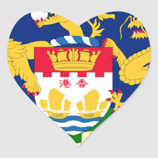 Hong Kong Autonomy Movement Flag Heart Sticker