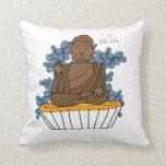 Hong Kong Big Buddha X Egg Tart Throw Pillow