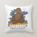 Hong Kong Big Buddha X Egg Tart Throw Pillows