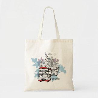 Hong Kong Busy Life Style scenery Budget Tote Bag