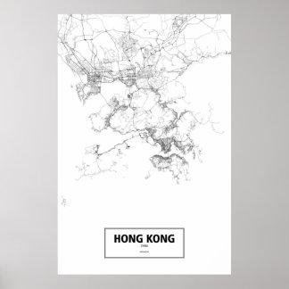 Hong Kong, China (black on white) Poster