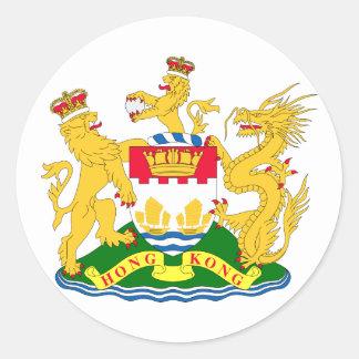 Hong Kong , China Classic Round Sticker