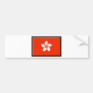 Hong Kong (China) Flag Car Bumper Sticker