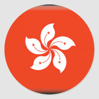 Hong Kong (China) Flag Classic Round Sticker