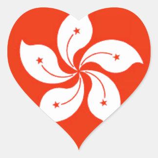 Hong Kong (China) Flag Heart Sticker