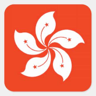 Hong Kong (China) Flag Square Sticker