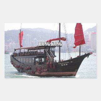 Hong Kong: Chinese junk Rectangular Sticker