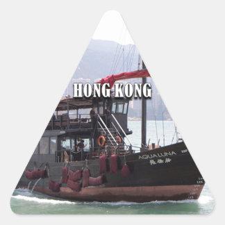 Hong Kong: Chinese junk Triangle Sticker