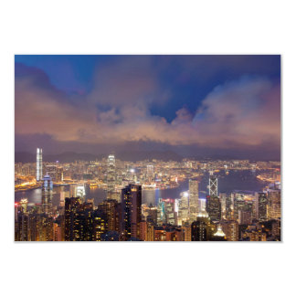 Hong Kong City and Victoria Harbour Card