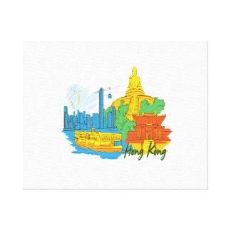 hong kong city graphic.png canvas print