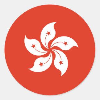 hong kong classic round sticker