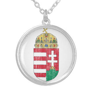Hong Kong Coat Of Arms Round Pendant Necklace