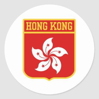 Hong Kong Coat of arms Round Stickers