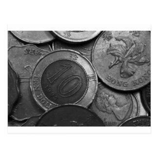 Hong Kong Coins Postcard