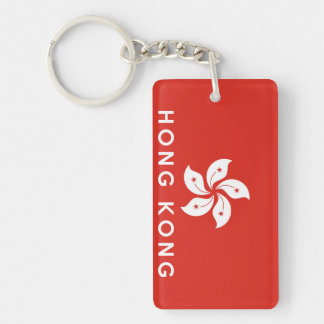 hong kong country flag symbol name text acrylic keychains