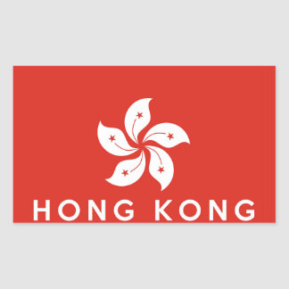 hong kong country flag symbol name text rectangle sticker