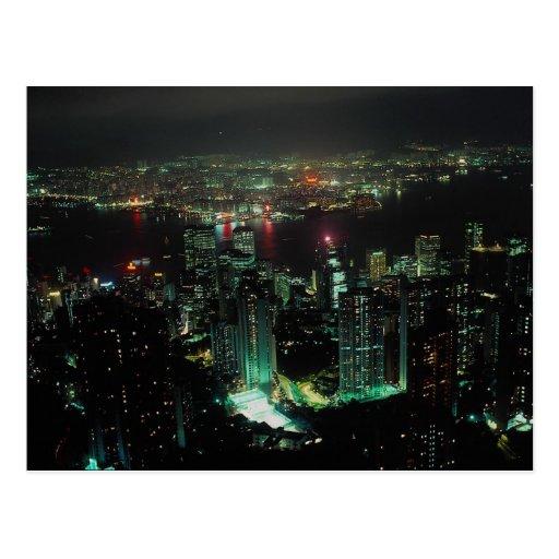 Hong Kong del pico de Victoria Tarjeta Postal