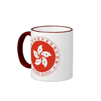 hong kong emblem ringer coffee mug