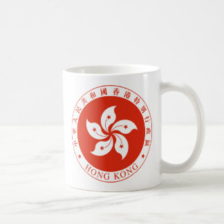hong kong emblem classic white coffee mug
