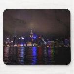 Hong Kong en la noche Tapete De Ratón