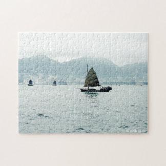 Hong Kong Fishing Junk Jigsaw Puzzle