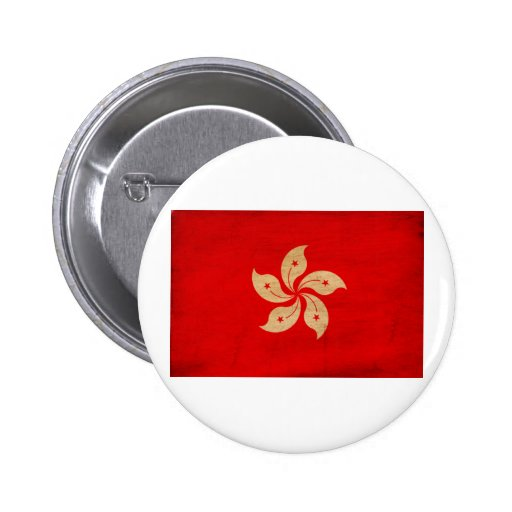 Hong Kong Flag 2 Inch Round Button
