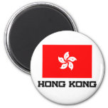 Hong Kong Flag 2 Inch Round Magnet