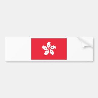 Hong Kong Flag Car Bumper Sticker