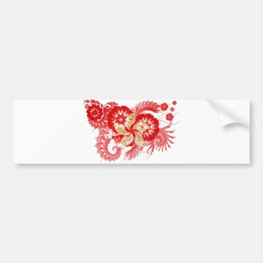 Hong Kong Flag Bumper Sticker