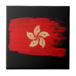 "Hong Kong Flag Ceramic Tile<br><div class=""desc"">Original flag design looks like it was painted on! Commemorate your world travels, celebrate your heritage or show everyone how much you love your home! This image is available on a variety of products. Check out all of our other designs at http://www.zazzle.com/zipperedflags Do you have a request or questions? Contact...</div>"