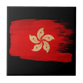 Hong Kong Flag Ceramic Tile