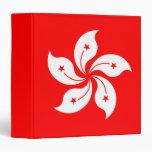 "Hong Kong Flag ""Classic"" 3 Ring Binders"